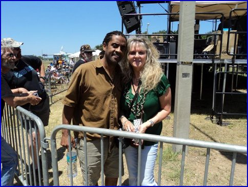 Zaida, promoter of Z-shows, hanging out with Kenny Neal