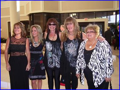 The gorgeous gals of the South Florida Blues Society (L-R) Kathy, Andrea, Karen, Debbie and Blewzzlady Rose