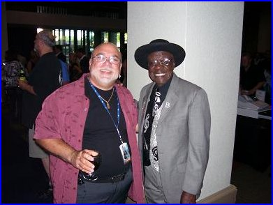 A couple of real blues men - Blewzzman Pete and Blues Man Bob Stroger, BMA winner for