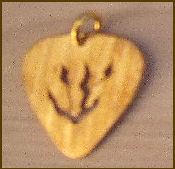 Guitar Pick Pendant, Inside Cut