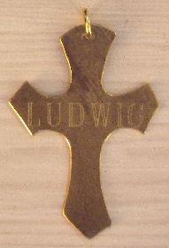 Engraved Ludwig Vintage Cross