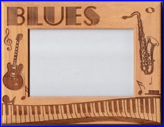 Wooden Blues Music Frame