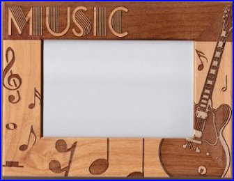 wooden music frame r - Music Picture Frame
