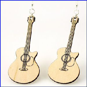 Acoustic Guitar Earrings