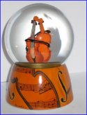 Violin Snow Globe