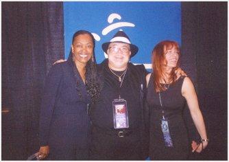 DEBORAH COLEMAN and RENEE AUSTIN with Pete the Blewzzman