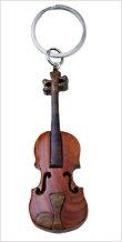 Wooden Violin Keychain