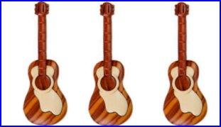 Set of 3 Guitar Magnets