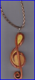 Wooden G Clef Necklace