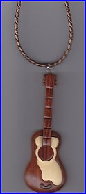 Wooden Guitar Necklace