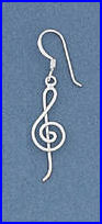 Short G-Clef Earrings
