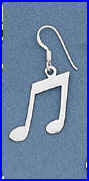Sterling Music Note Earrings